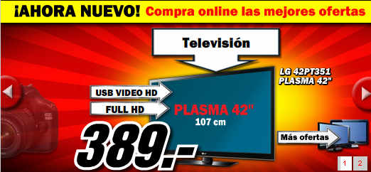 selecci n de las mejores ofertas online de media markt inform tica tv y tambi n productos. Black Bedroom Furniture Sets. Home Design Ideas