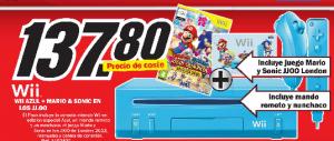 Nintendo Wii Azul + juego y mandos