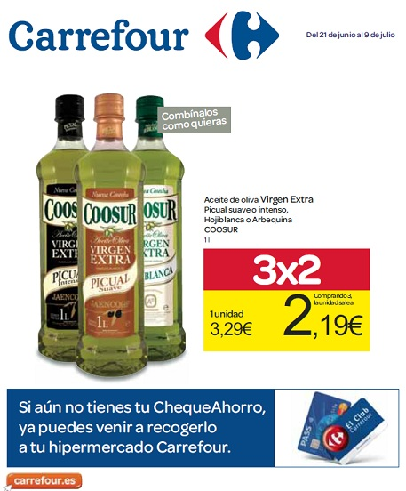 "Folleto ""3 x 2"" de Carrefour"