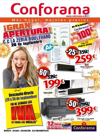 El 26 de septiembre abre el nuevo conforama de orihuela todas las mejores ofertas del folleto - Catalogo conforama alicante ...