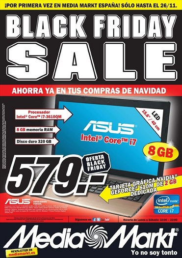 Folleto Black Friday de Media Markt